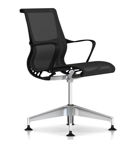 herman miller setu meeting chair 4 base with glides