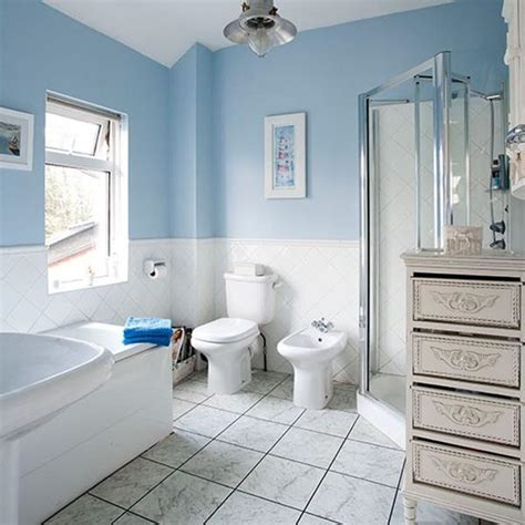 blue and white bathroom decoration ideas