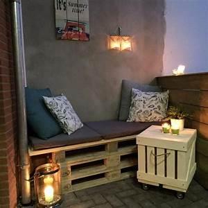 Balkon Bank Klein : 25 beste idee n over balkon decoratie op pinterest ~ Michelbontemps.com Haus und Dekorationen