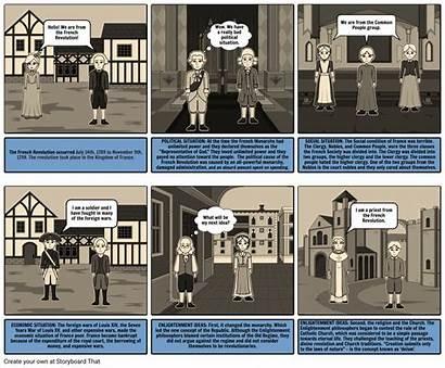 French Revolution Comic Strip God Storyboard Spanish