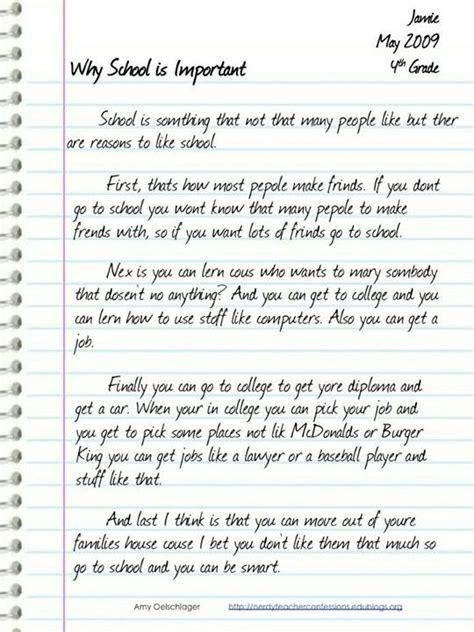 school  important college essay math story