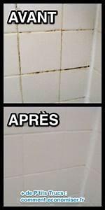 19 super astuces de nettoyage qui vont vous faciliter la vie With comment nettoyer les joints de salle de bain moisi