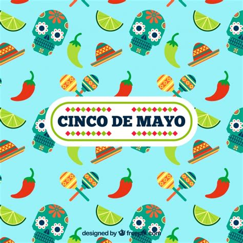 cinco de mayo background cinco de mayo background with skulls and chili vector