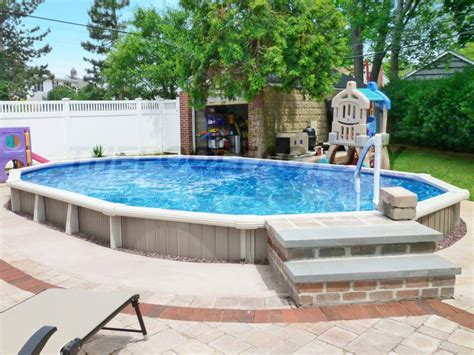 Semi Inground Pool Photos