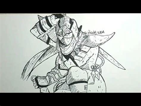 menggambar hayabusa hero mobile legends   draw