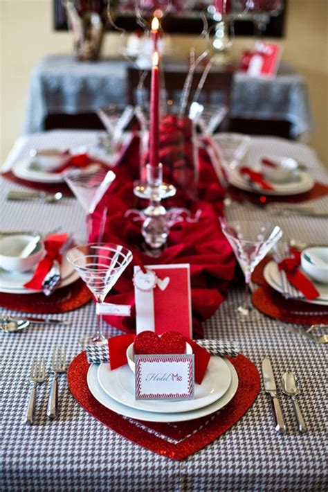 romantic valentines day table setting ideas home