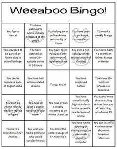 Let's Play Weeaboo Bingo! | Anime Amino