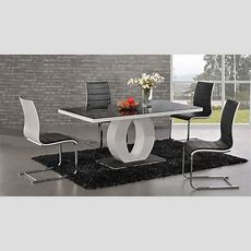 Beautiful Wood And Glass Design Dining Table  Modern