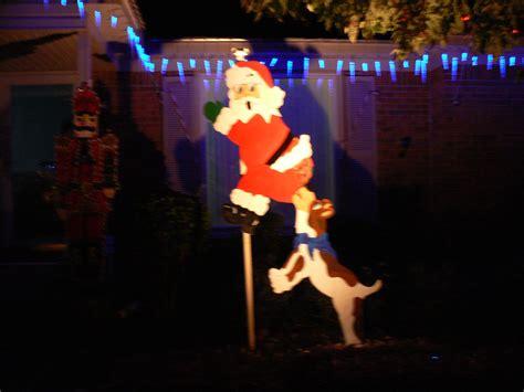 dog  santa   pants christmas yard decoration
