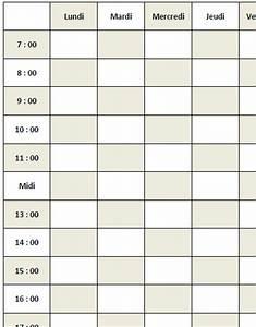 Les 4 Temps Horaires : exemple d 39 une grille horaire ~ Dailycaller-alerts.com Idées de Décoration