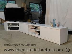 Meuble De Tele D Angle : meuble de t l vision neuf moderne en angle pour chilly mazarin dans l 39 essonne ebenisterie brettes ~ Nature-et-papiers.com Idées de Décoration