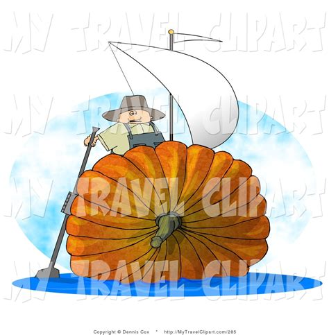 Sailboat Pumpkin by Clipart Of A Silly Man Sailing On An Oversized Pumpkin