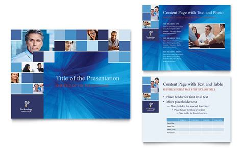 powerpoint change template for entire presentation technology consulting it powerpoint presentation
