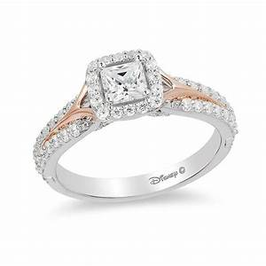 Enchanted Disney Aurora 3/4 CT. T.W. Princess-Cut Diamond ...
