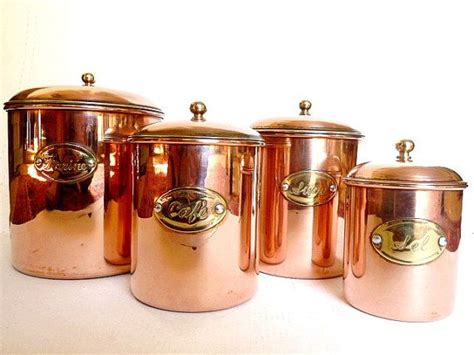 copper canisters housewares kitchen decor by cabartvintage 85 00 home copper