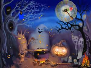 Halloween Live Moving Wallpapers by Halloween Animated With Sound Wallpapers Wallpapersafari