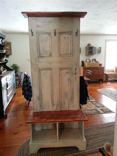 door hall tree    antique door   custom