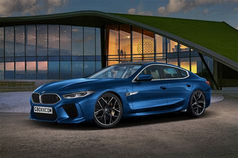 Bmw M8 Gran Coupe Puts On A Production-ready Blue Suit