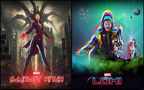 Scarlet Witch And Loki Series Concept Posters Marvelstudios