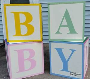 baby shower abc blocks my repurposed lifetm With how to make giant letter blocks