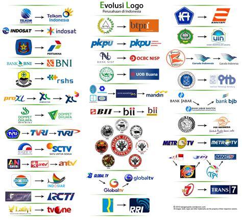 31 logo perusahaan indonesia dengan perubahannya dari masa ke masa