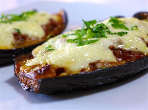 eggplant recipes melitzanes papoutsakia stuffed eggplant recipe dishmaps