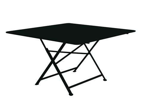 table pliante 4 chaises intégrées cargo foldable table 128 x 128 cm liquorice by fermob