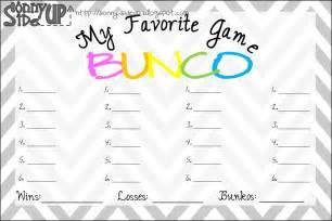 Free Printable Bunco Score Sheet Template