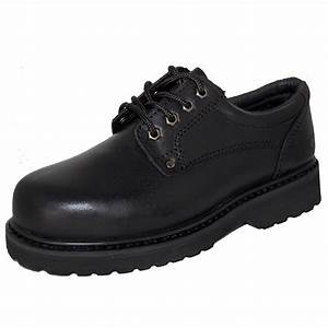 availability for work black leather oxford rugged shoe