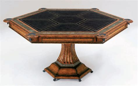 card and game tables six player card table luxury furnishings