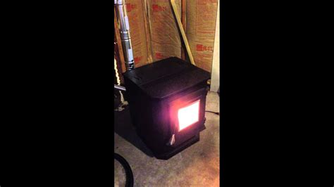 pellet stove installation   uninsulated garage