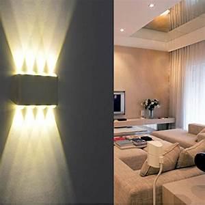 Lampen Fürs Schlafzimmer : wandleuchte led innen phoewon 8w modern led licht wandlampe aluminium leuchten wandlicht oben ~ Orissabook.com Haus und Dekorationen