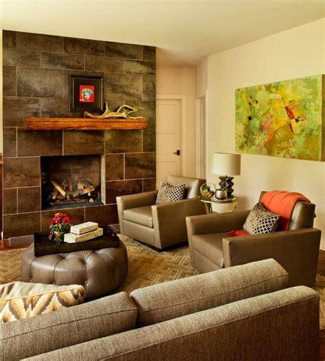 Refined HandHewn  Contemporary  Living Room Portland