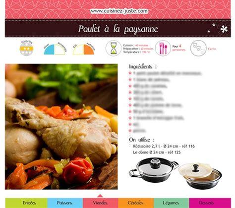 750g fiche de cuisine fiche recette viande poulet à la paysanne version pdf