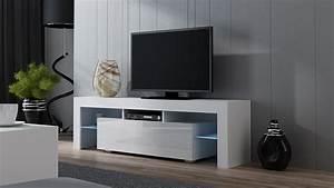 Tv Schrank Mit Rückwand : tv lowboard schrank tisch board hochglanz 130 160cm mit rbg led beleuchtung ebay ~ Bigdaddyawards.com Haus und Dekorationen