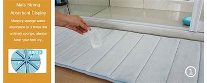 Rug Foam Velvet Bathroom Coral Soft Floor