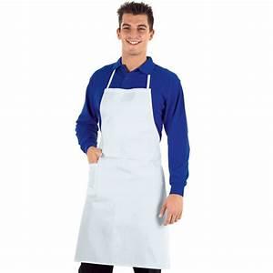 Tablier De Cuisine Professionnel : tablier de cuisine professionnel blanc isacco 100 coton ~ Teatrodelosmanantiales.com Idées de Décoration