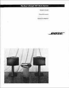 Bose Lifestyle 901 Music System Owners Manual Use Guide