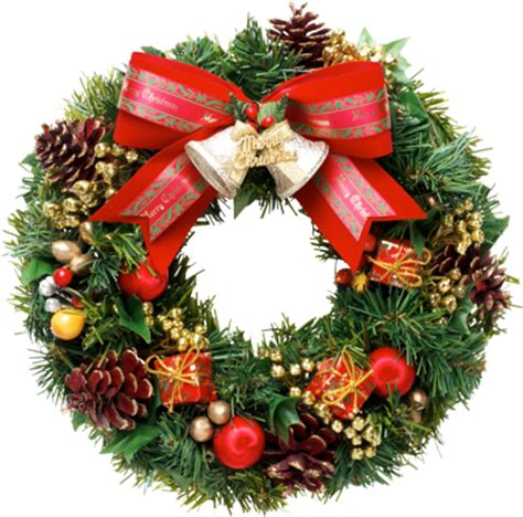 christmas wreath png clipart  transparent