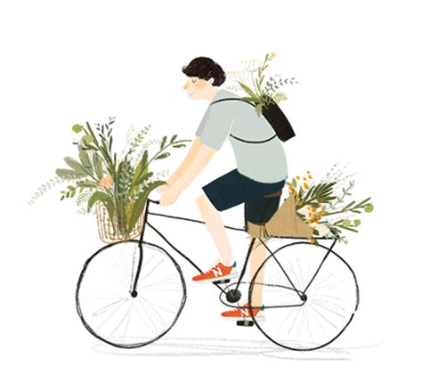 在路上可爱手绘插画动图设计欣赏 - 素材公社 tooopen.com