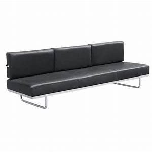 Sd174 genuine leather sleeper sofa bed city schemes for Genuine black leather sectional sofa