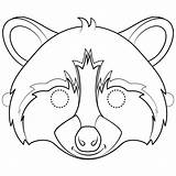 Raccoon Coloring Mask Pages Printable Template Templates Preschool Paper Drawing sketch template