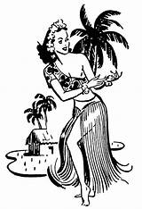 Coloring Pages Hawaiian Hula Hawaii Coloringsky Activities Sketch Template Woman Templates Hello sketch template