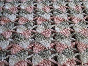 Easy Crochet Afghan PatternSideways Shells by KathieSewHappy
