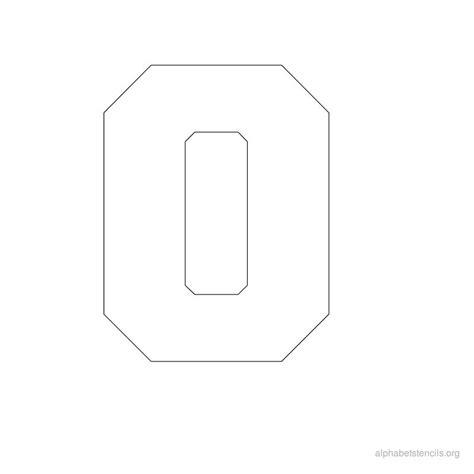 the letter o 2 free printable block letter stencils alphabet stencils o