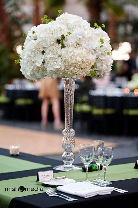 Tall Hydrangea Wedding Centerpieces Tall Arrangement Of