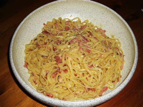 la vraie cuisine italienne linguine à la carbonara la vraie recette italienne gg
