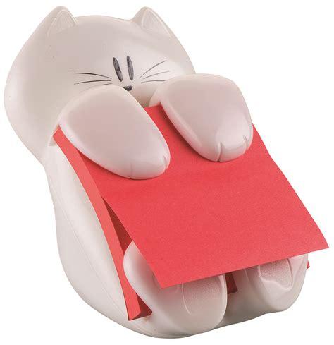 podajnik do bloczk 243 w samoprzylepnych it 174 kotek cat 330 biały w zestawie 1 bloczek