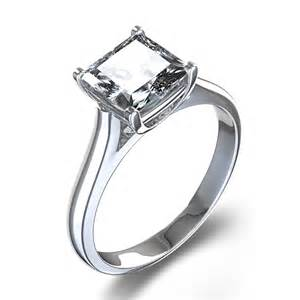 princess cut solitaire engagement rings ring settings engagement ring settings princess cut