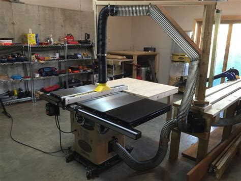 Adjustable Swivel Arm Dust Collection For Over Table Saw
